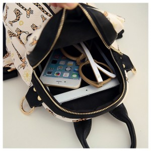 Animal Round Backpack Beg Shoulder Bag Fashion Cute Bags Lady