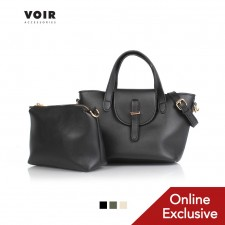 VOIR Small Tote with Double Top Handles