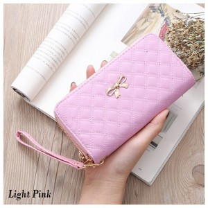 Lovely RIbbon Quilted Purse Fashion Wallet Dompet Women
