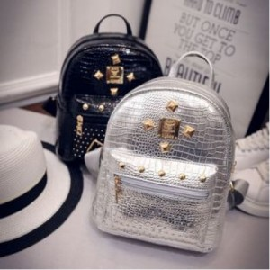 Korean Style Shinning Backpack Travel Casual Bag