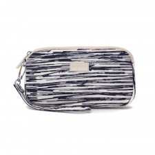 Printed Crinkled Nylon Wristlet Pouch