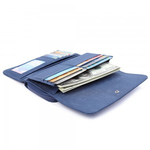Crinkled Nylon Bi-Fold Wallet