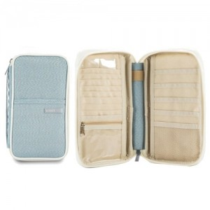 Zip-Up Passport Holder Wallet