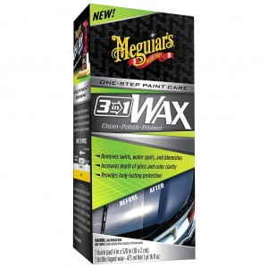 Meguiar's One-Step Paint Care 3-In-1 Wax Foam Applicator Pad Posh Care Wax Off Detailing Towel COMBO
