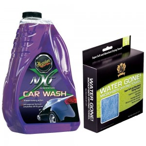 Meguiar's NXT Generation Car Wash Posh Care Water Gone Drying Towel COMBO