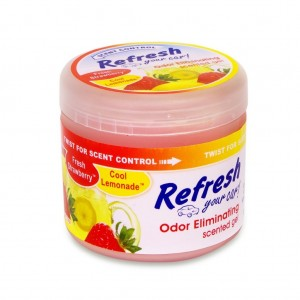 Refresh Your Car Odor Eliminating Dual Scented Gel 4.5 oz - Strawberry Lemonade