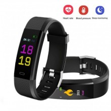 115 Plus Heart Rate Monitor Blood Pressure Monitor Color Screen Smart Band