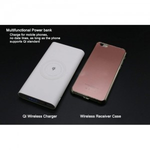 Qi 3 in 1 Wireless & Wired (Type-C Micro USB) Charging 8000mAh Power Bank