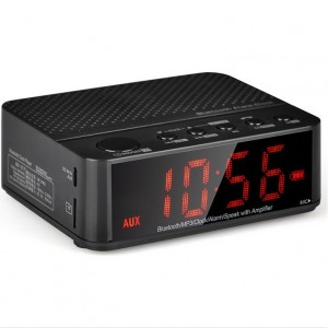 Wireless Desktop Bluetooth Time LED Alarm Clock