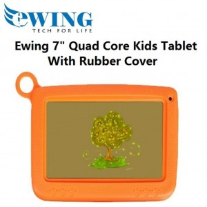 """Ewing 7"""" 8GB Quad Core Dual Camera Wifi Android4.4 Kids Tablet W/ Cover (Orange)"""