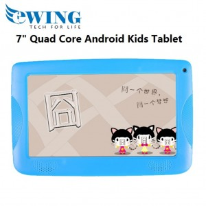"Ewing 7"" 8GB Quad Core Dual Camera Wifi Android4.4 Kids Tablet W/ Cover (Blue)"