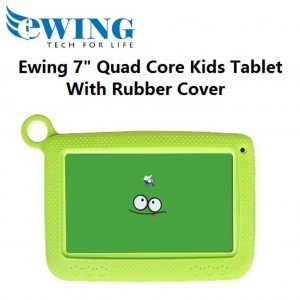 "Ewing 7"" 8GB Quad Core Dual Camera Wifi Android4.4 Kids Tablet W/ Cover (Green)"