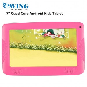 """Ewing 7"""" 8GB Quad Core Dual Camera Wifi Android4.4 Kids Tablet W/ Cover (Pink)"""