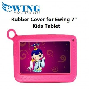 "Ewing 7"" Kids Tablet Rubber Cover (Pink)"