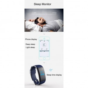 DF30 Heart Rate Blood Pressure Monitor Bluetooth Fitness Smartband (Black)
