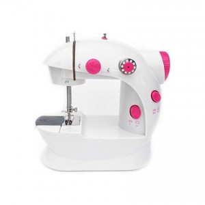 Mini Sewing Machine with Double Threads and Two Speed Control Red