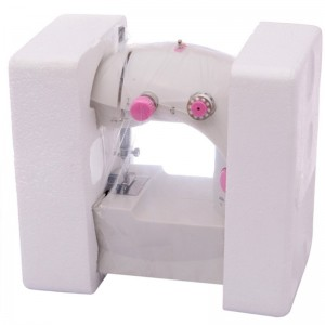 Mini Sewing Machine with Double Threads and Two Speed Control (Pink)