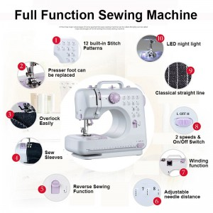 Sewing Machine 505 Pro 505A with 12 Sewing Options - 3 Colors