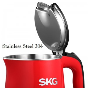 SKG 8041 Stainless Steel 304 Anti Scald Temperature Display Electric Kettle 1.7L
