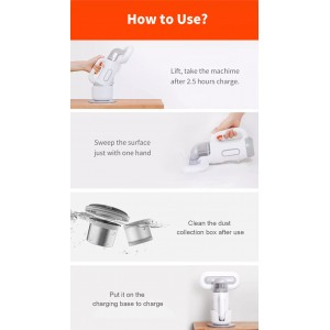 Xiaomi SWDK Handheld Strong Suction Ultraviolet Mites Wireless Vacuum Cleaner
