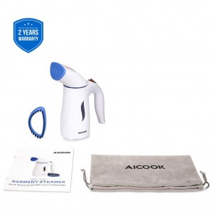 Aicook ST0601 Mini Portable Travel Garment Steam 700W 110ml Compact Size Fast-Heat Auto-Off Overheating Protection