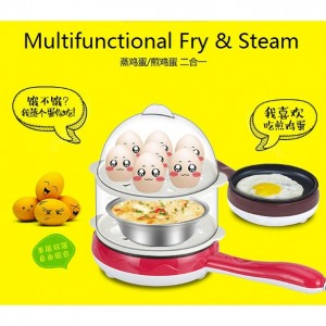 Multifunctional Double Layer Mini Electric Egg Cooker