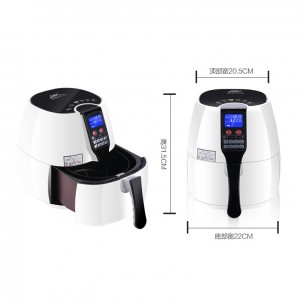 8-in-1 Electric Air Fryer Cooking Settings 2.5L