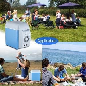 7.5L Portable Travel Car Fridge Refrigerator With Cooling and Warming Functions
