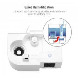 LED Humidify Monitor Humidifier 30W Cool Mist Extra Large 4L 30H Waterless Auto-Off for Large Bedroom