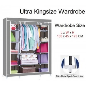 Ultra Kingsize Wardrobe Dust-proof Cover Curtain Wardrobe YG135