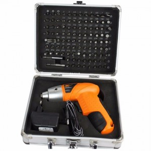 104Pcs 1 4.8V Cordless Electric Screw driver Drill Flexible Shaft
