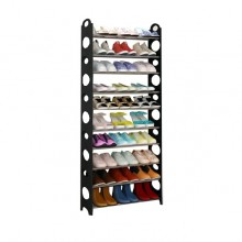 10 Tier Store up to 30 Pairs Stackable Shoe Rack