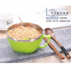 Korean Style Multipurpose Instant Noodle Stainless Steel Bowl With Seal 900ML