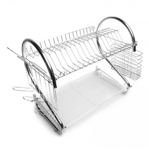 Multi-functional 2 Tier Dish Drainer