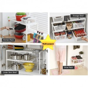 Expandable Kitchen Organizer Under Sink Rack