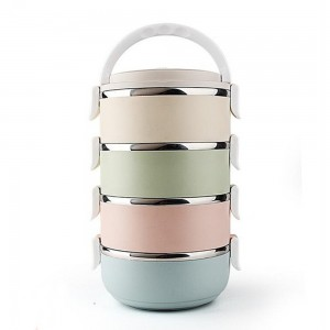Multicolor 3/4 Layer Stainless Steel Lunch Box