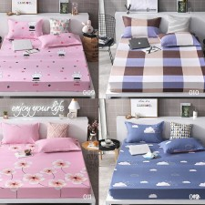 Fitted 3 In 1 Premium High Quality 600 Thread Count Queen Size Modern Bed Sheet Cover with Pillow Case