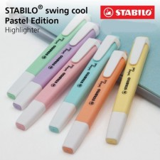STABILO swing cool Pastel Highlighter Pen and Text Marker with Pocket Clip