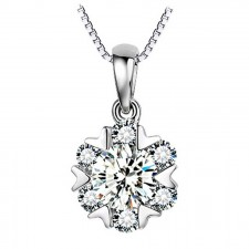 Youniq Snow Dance 925 Sterling Silver Necklace Pendant With Cubic Zirconia