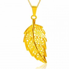 Youniq Premium Lucky Leaf 24k Gold Plated Pendant