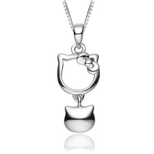 Youniq Kitty Bell 925s Silver Necklace & Earrings