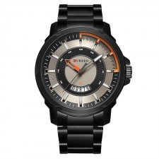 Curren 8229 Men Contra Dial Stainless Steel Strap Analog Watch with Date