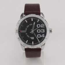 CURREN 8125 Men's Fashion Date Display Leather Watch