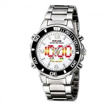 Weide WH843 Dual Time Men's Watch Silver & White