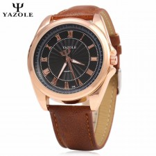 YAZOLE Signature Leather Band S/S Business Military Watch