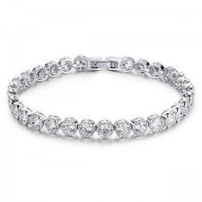 Youniq One-drilling Platinum Plated Silver Bracelet