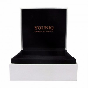 Youniq Platinum Silver Bracelet & Silicone Bracelet (Couple Set)