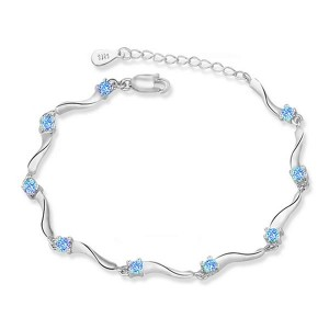 Youniq Rock Stars 925 Sterling Silver Bracelet With Cubic Zirconia