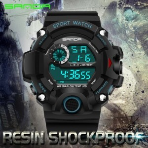 SANDA 326 Waterproof Outdoor Multifunctional Sports Men's Digital Watch