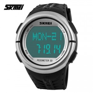 SKMEI 1058 Heart Rate Monitor Pedometer LED Backlight Sport Watch
